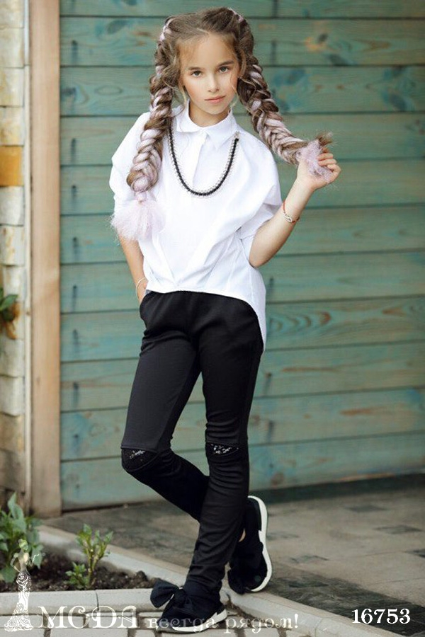 Рубашка для девочки 16753