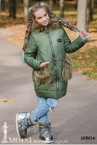 Зимнее пальто на девочку 16804