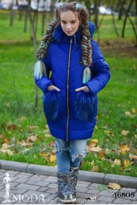 Зимнее пальто на девочку 16805