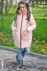 Зимнее пальто на девочку 16807