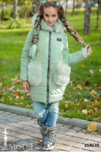 Зимнее пальто на девочку 16808