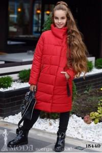 Теплое пальто на девочку 18449
