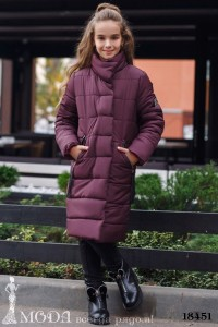 Теплое пальто на девочку 18451